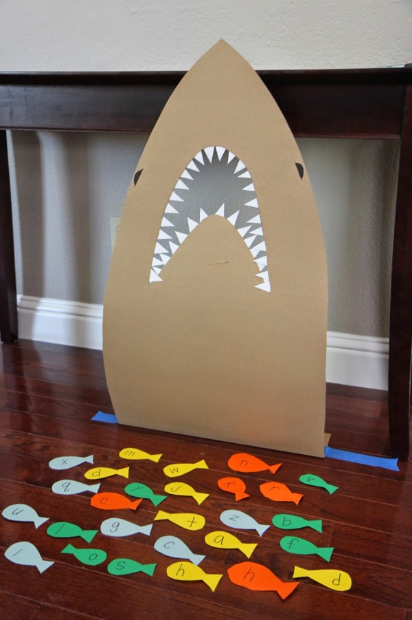Feed the Shark Alphabet Game for Kids Lesson Plans