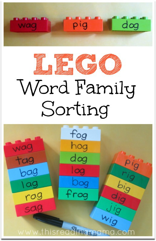 LEGO Word Family Sorting