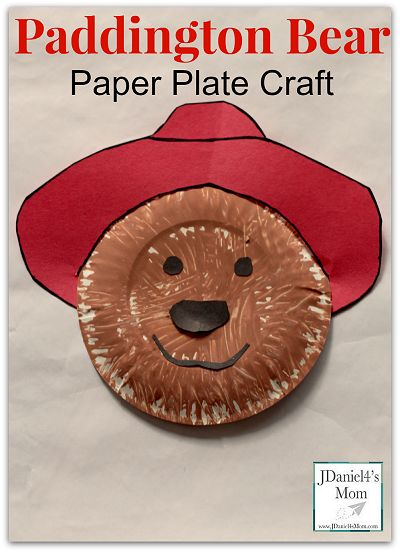 Paddington Bear Paper Plate Craft