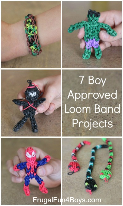 7 Boy-Approved Rainbow Loom Band Projects
