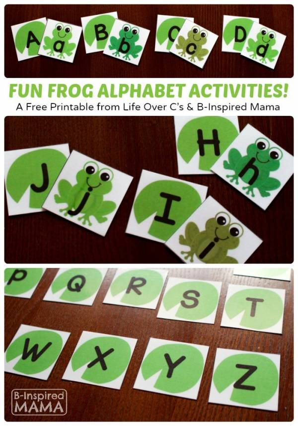 Frog Printable Alphabet Activities