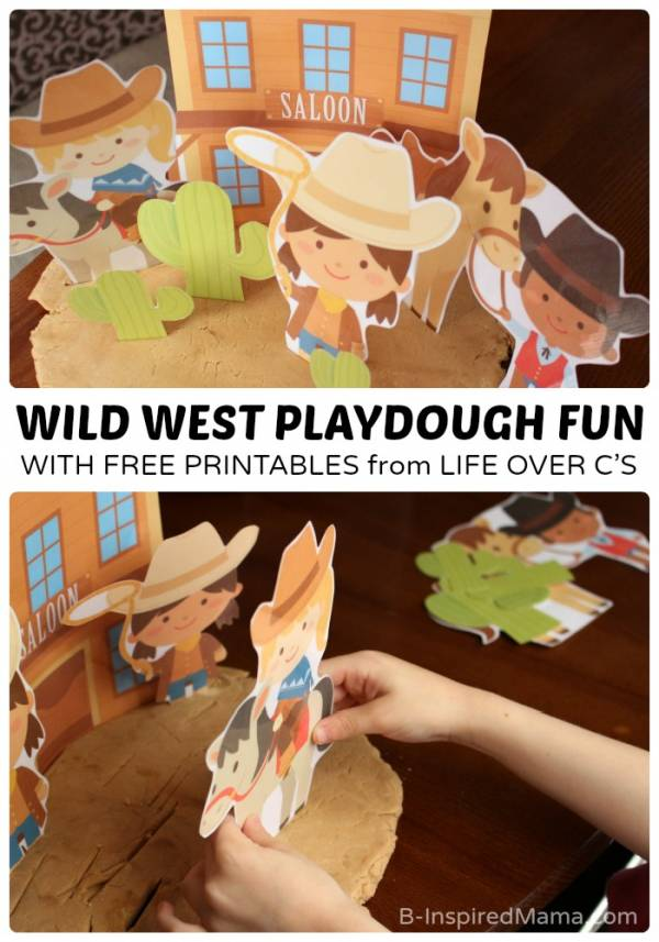 Wild West Playdough Printables