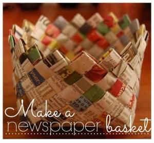 Make a Newspaper Basket