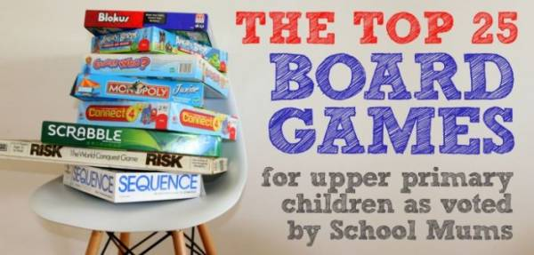 The Top 25 Board Games for Upper Primary Children