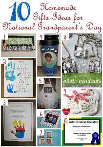 Let Kids Make Gifts National Grandparent's Day
