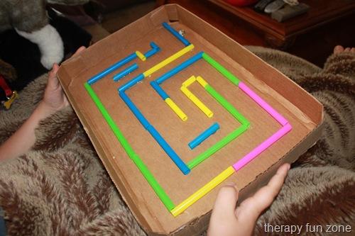 Cardboard Marble Maze