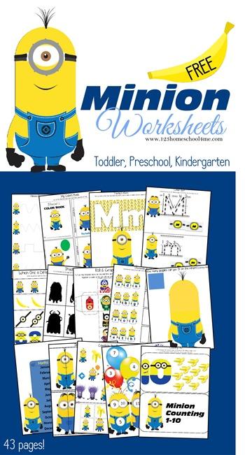free printable minion activity sheets  u2013 lesson plans