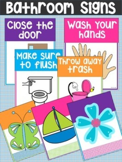 Printable Bathroom Rules & Reminder Signs – Do Your Kids ...