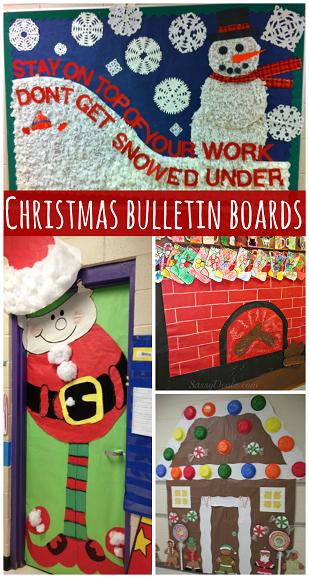 Classroom Decor Hacks ~ Christmas bulletin board hacks lesson plans