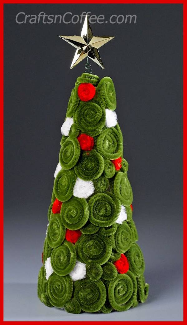 diy-chenille-christmas-tree