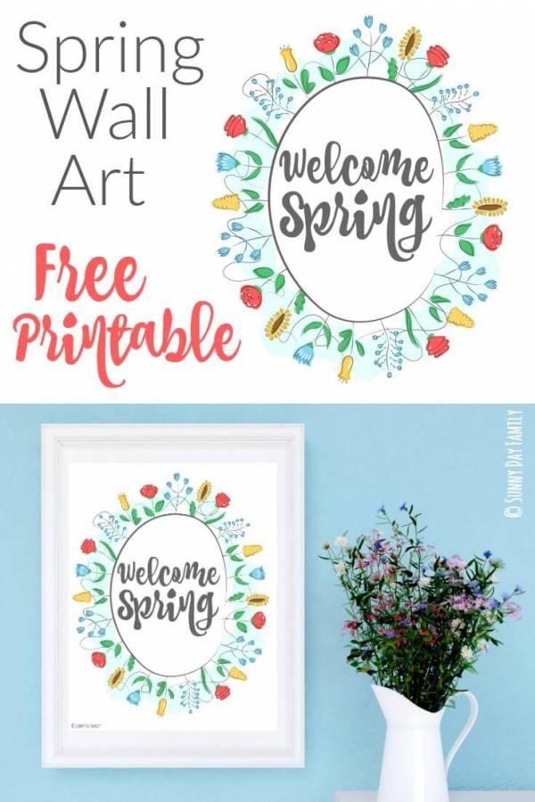 spring free printable pin
