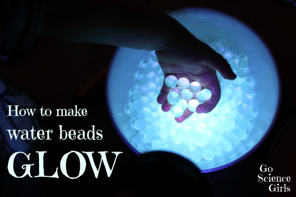 Glowing water beads and lots of other science projects for preschoolers.