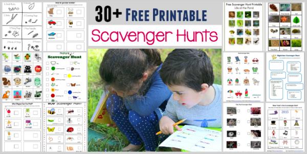 More than 30 printable scavenger hunts for use on nature walks.