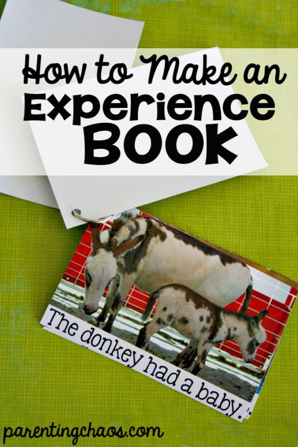 how to make an experience book with kids