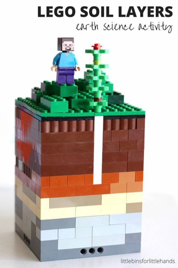 Learn about soil layers with Lego.