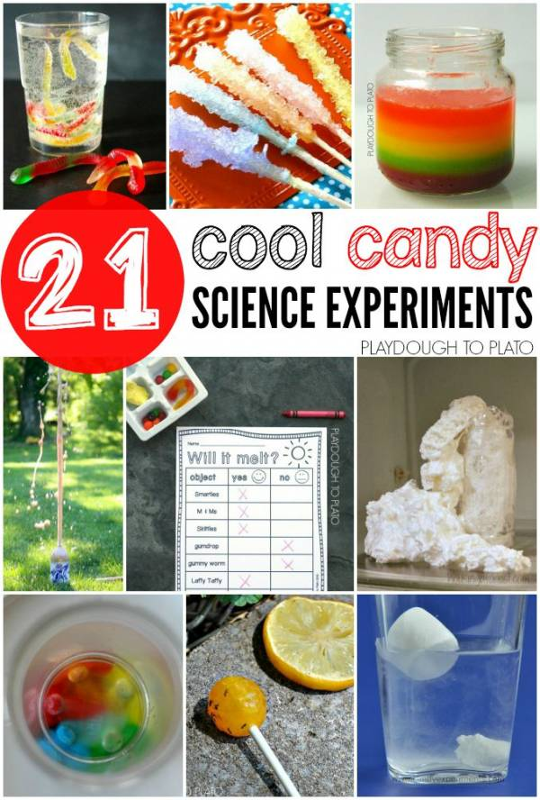 Candy Science Experiments for using Halloween candy