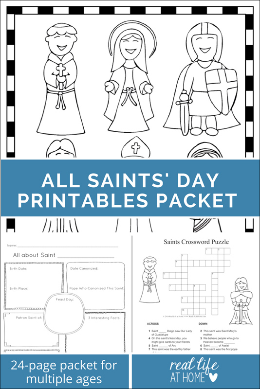 Printables for All Saints' Day – Lesson Plans