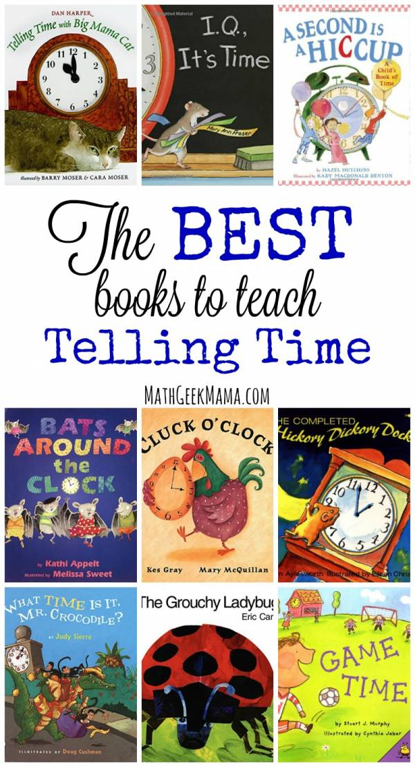 Books for teaching kids about time.