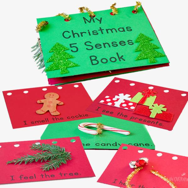 DIY five senses book for Christmas