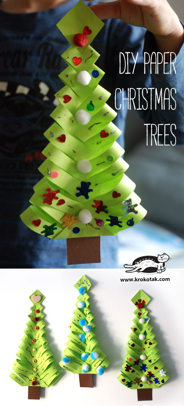 christmas paper crafts practice cutting and folding with the tree 1312
