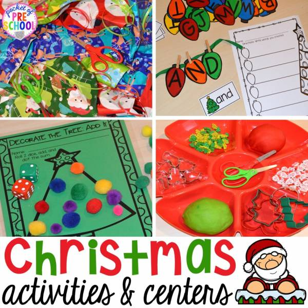 Christmas Decorations Lesson Plans : Christmas activity center ideas for preschool and