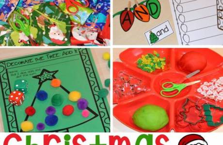 Christmas Activity Center Ideas for Preschool and Kindergarten