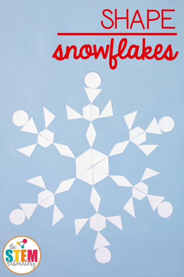 Make shape snowflakes and talk about geometry and symmetry while you make art.