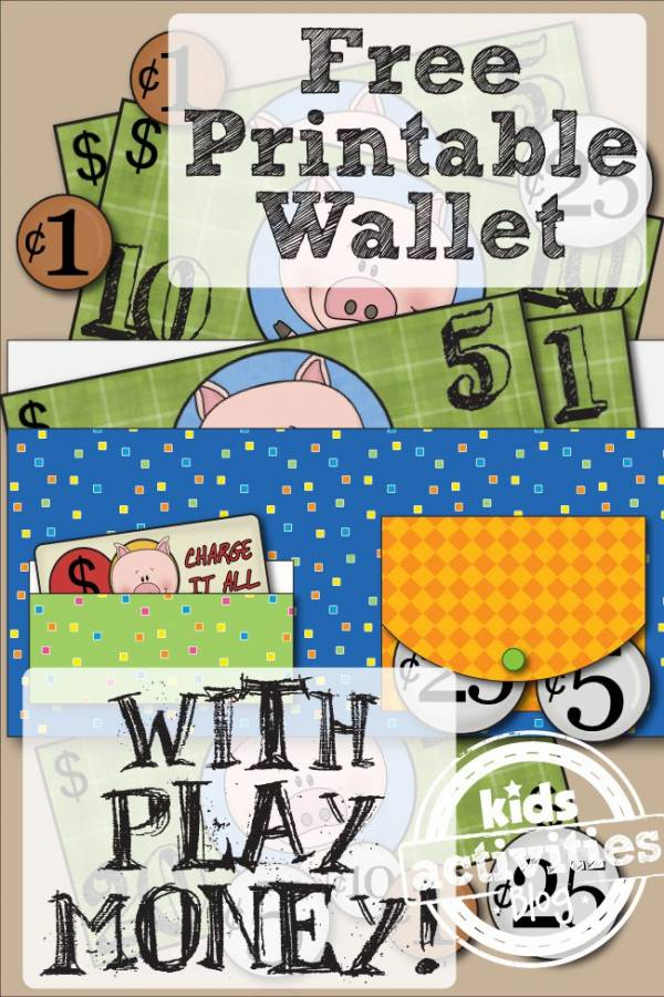 Free printable wallet and play money