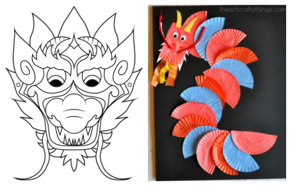dragon crafts for Chinese New Year
