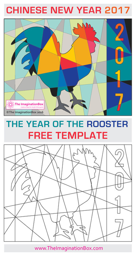 Rooster design for chinese new year