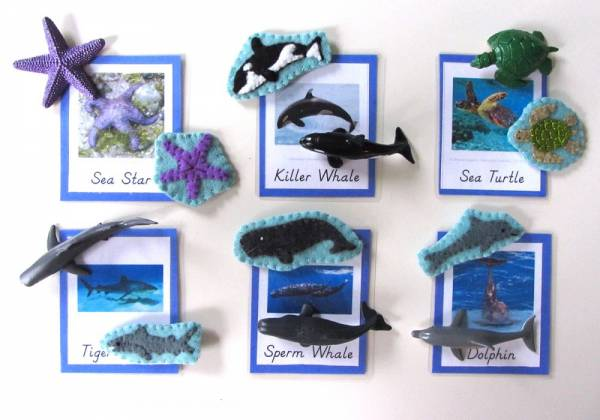 felt ocean animals for playful learning