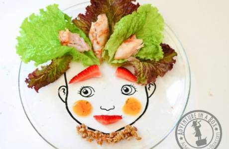 Make a Food Face Plate to Encourage Picky Eaters