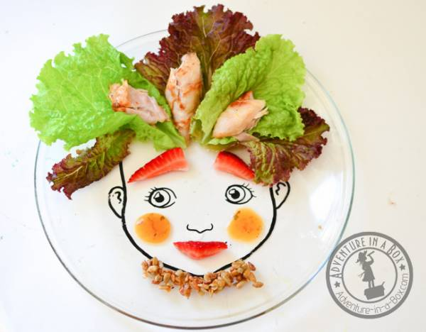 DIY face plate for picky eaters