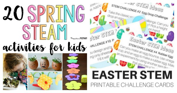 Fun ideas for spring and Easter themed STEM activities.