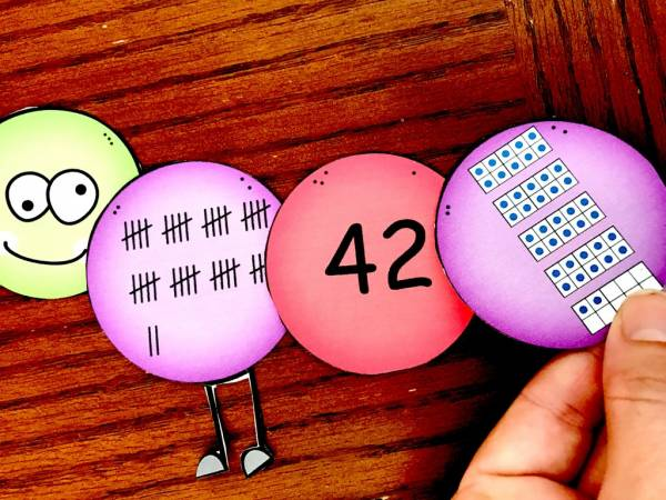 learn about numbers 20 to 50 with this printable caterpillar activity
