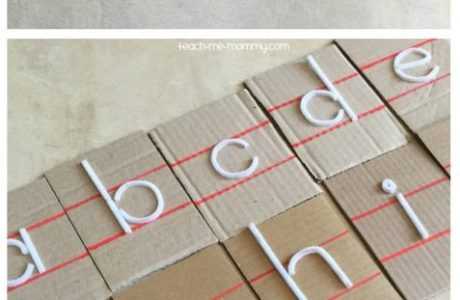 Easy Touch and Feel Letters to Make at Home