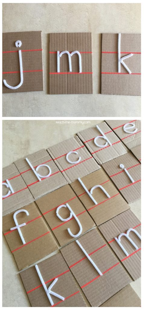 touch and feel letter cards