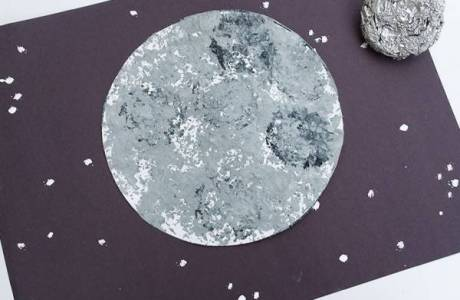 Use Foil to Stamp a Cool Moon