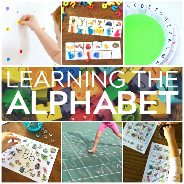 activities for learning the alphabet and letter recognition