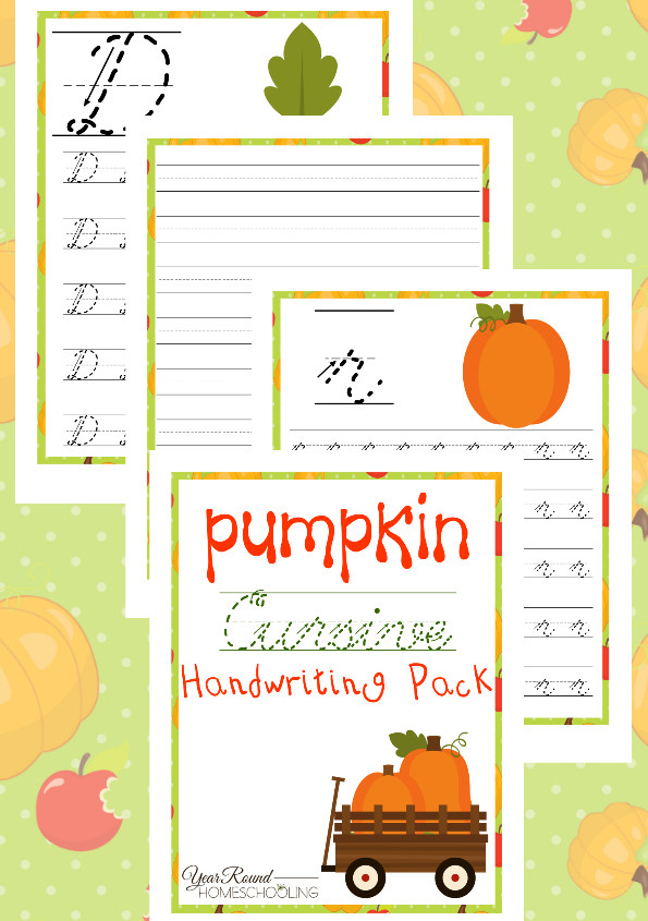 pumpkin cursive practice pages