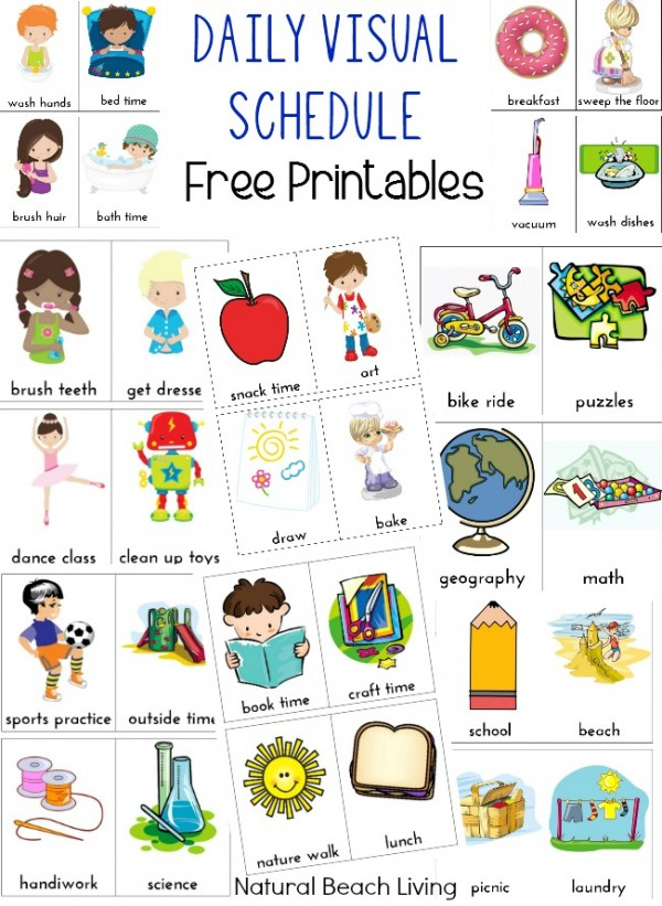 visual schedule printables