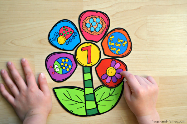 build a flower number activity