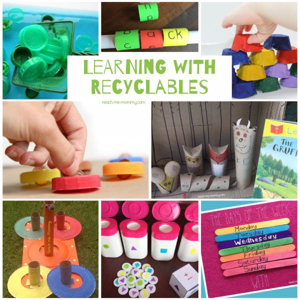 learning activities using recycled materials