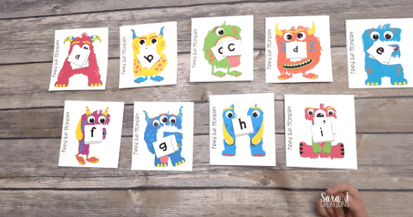 feed the monster alphabet matching game