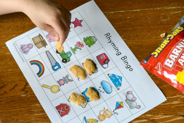 Play with Language with a Rhyming Bingo Game