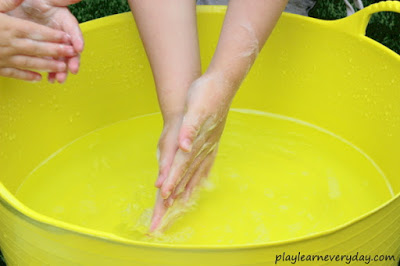 Practice Hand Washing with Water Play