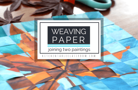 Add Texture to a Painting with Paper Weaving