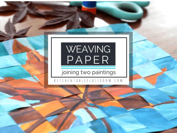 weaving paper paintings