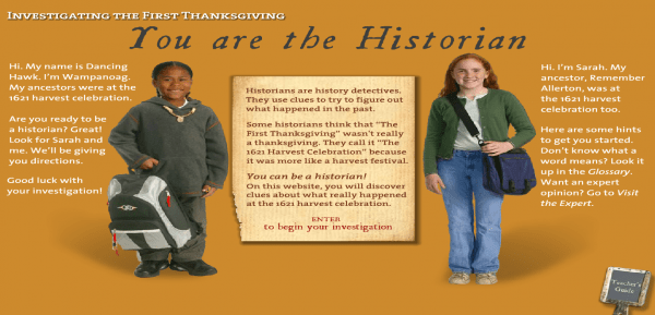 learning about the first thanksgiving