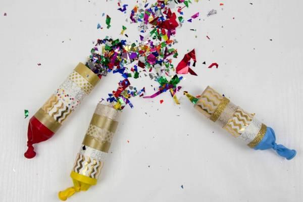 cardboard tube confetti poppers